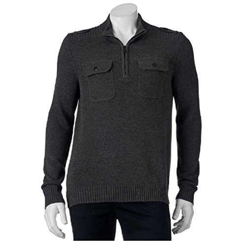 Apt 9 Sweaters (Men's Apt 9 Modern Fit Mockneck Quarter-Zip Sweater Small)