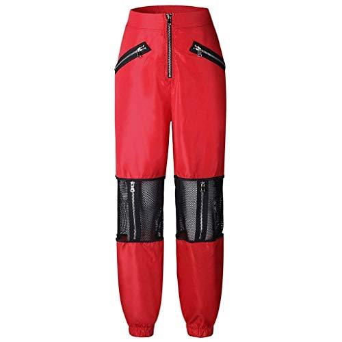Ropa Cremallera Deportivos Jogger Rot Cintura Pantalones Adelina Transpirables Malla Con Alta De Casual vg1w0xqS4
