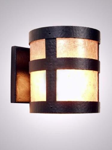 Steel Partners Lighting 7370-Open Sconce Open Portland 100 Wattage, Black Finish White ()