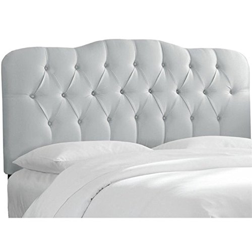 - Pemberly Row Upholstered Full Tufted Panel Headboard in Silver