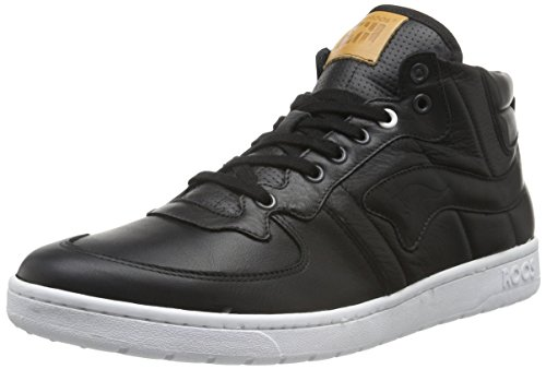 KangaROOS Herren Full-Court-Mid-Nappa Low-Top Schwarz (blk 500)