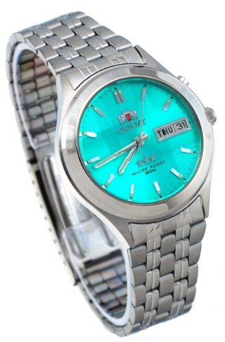 Orient #BEM5V002E Men's Facet Glass Stainless Steel Automatic Watch