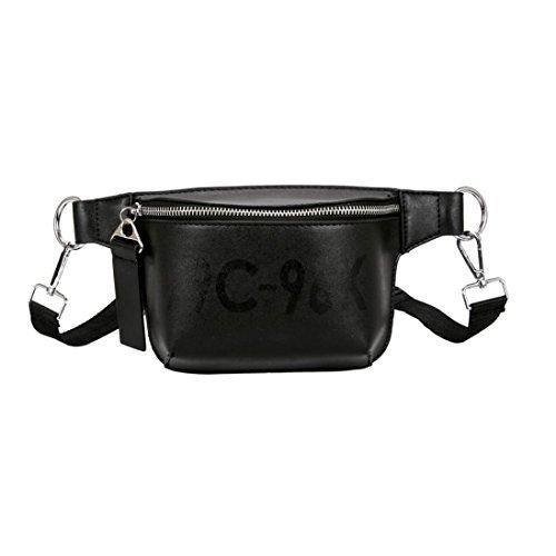 - Clearance!Women Bags❤️COPPEN Fashion Casual Women Pure Color Leather Messenger Shoulder Bag Chest Bag (Black)