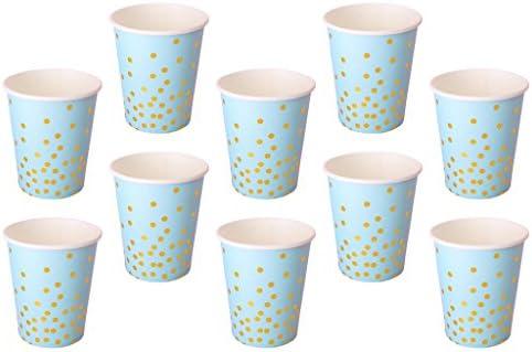 MagiDeal 10pcs Einwegbecher für Kaltgetränke und Heißgetränke, Pappbecher Umweltfreundlich für Kinder Geburtstag Baby Dusche Hochzeit - Rosa