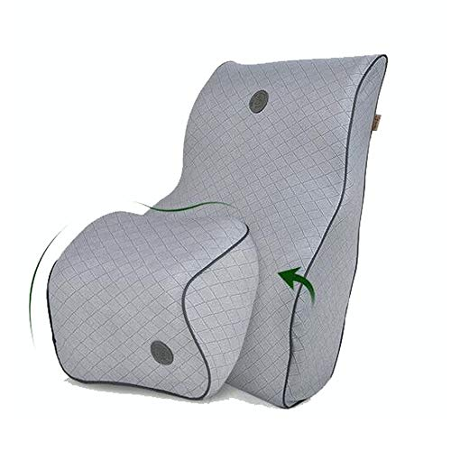 Car Lumbar Pillow Travel Ease Pillow Car Lumbar Support Back Cushion & Headrest Seat Cushion Natural Latex Neck Pillow…