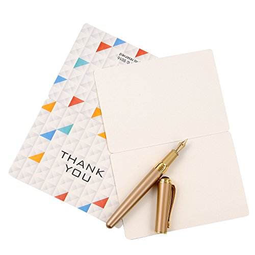 Thank You Cards with Envelopes, Bezgar 12 Note Blank Cards - 3 Designs