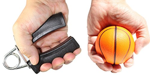 Set of 2~ 1 Hand Grip+ 1 Sports Squeeze Ball Wrist Builder Arm Strength Fitness Stress Relief Health Hand Therapy Gift