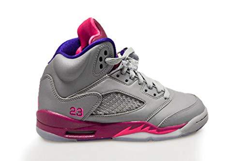 楽しむアーサー富ナイキ(NIKE) エア ジョーダン レトロ メンズスニーカー Girls Air Jordan 5 Retro GS Cement Grey Pink Flash グレー ピンク 440892-009 (6Y(24cm)) [並行輸入品]