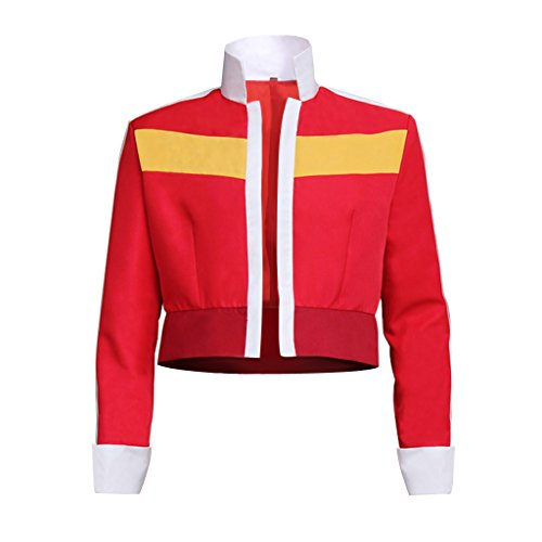 CosplayDiy Men's Jacket for Voltron: Legendary Defender Keith Cosplay,Red&yellow,Small