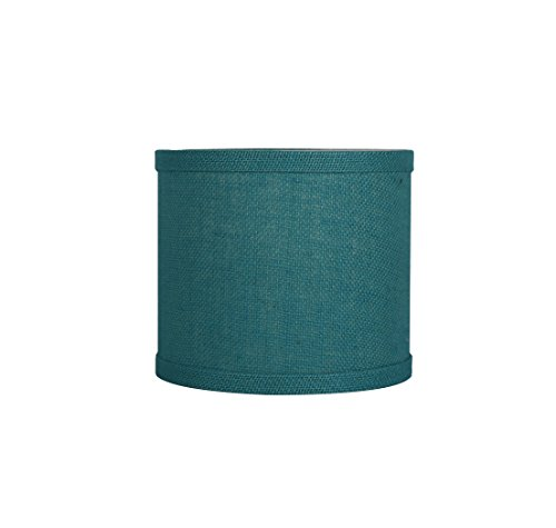 Urbanest Classic Drum Burlap Lampshade, 8-inch by 8-inch by 7-inch, ()