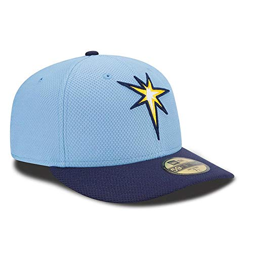 - Tampa Bay Rays Low Profile Diamond Era Fitted Size 8 Size Alternate Logo Hat Cap - 2-Tone