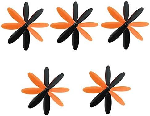 chiwanji Hubsan X4 H107Lアクセサリーブラック+オレンジのプロペラエアスクリュー交換
