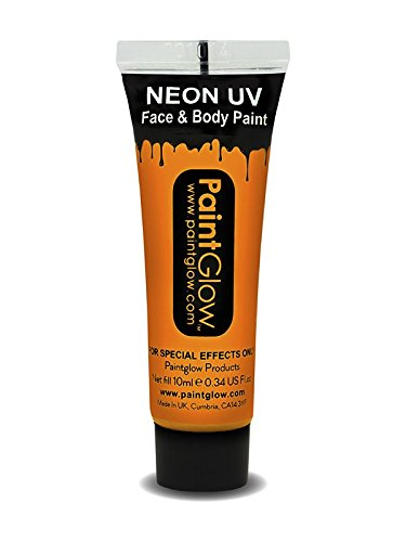 Uv Face & Body Paint, Orange, - Dresses Uk Uv