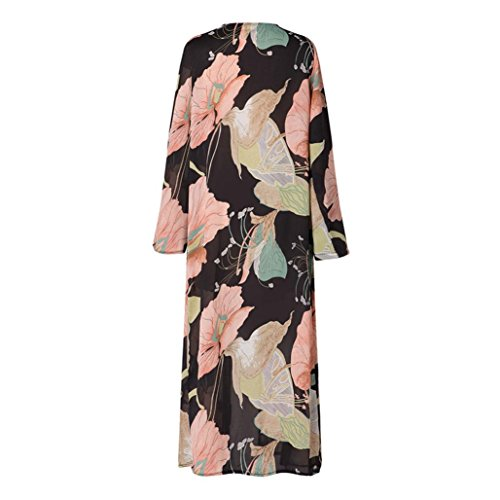 Haut Kimono de Soie Veste QinMM Cardigan Plage Mousseline de Femmes Longues Chemise x1ZIxzUn