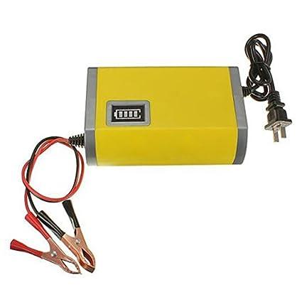 Cargador de bateria - YOUXIN 12V 6A ATV BARCO cargador inteligente de bateria de maquina de coche y motocicleta Amarillo: Amazon.es: Juguetes y juegos
