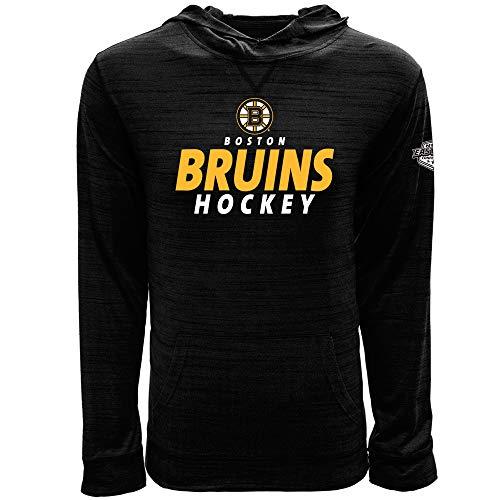 Static Jerseys Black (Levelwear NHL Boston Bruins Mens Static '18 Anchor Mens Hoody, Heather Black, Medium)