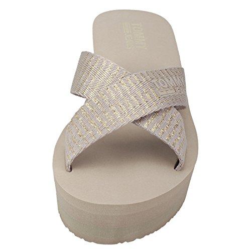 Tommy Hilfiger Sporty Mid Beach Womens Sandals Gold Beige - 38 EU jch0M