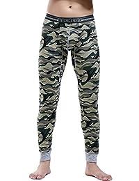 Mendove Men's Cotton Camouflage Compression Thermal Long Johns Pants