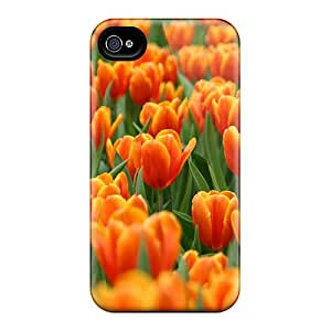 Premium Iphone 4/4s Case - Protective Skin - High Quality For Tulip Flowers 00