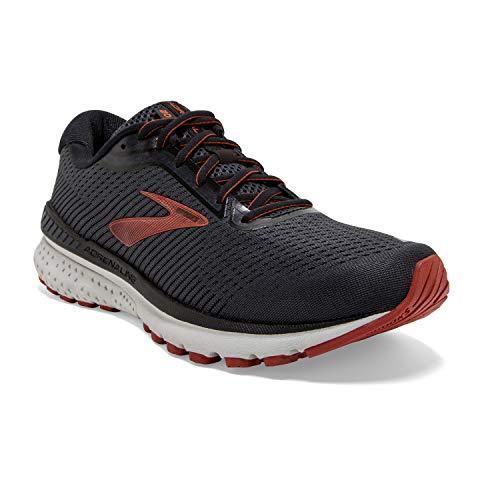 Brooks Mens Adrenaline GTS 20 Running Shoe - Black/Ebony/Ketchup - D - 11.0