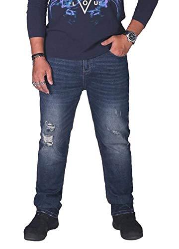 Hommes Leisure Pour Poche Pantalons Automne À Fashion Basique Printemps Long Volants Bleue Denim 5xSRHvxw
