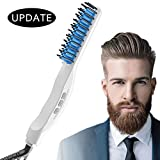 Quick Beard Straightener, Beard Straightening Comb Curly Hair Straightening Curler Comb GREATSSLY Men's Professional Quick Hair Styler Multifunctional Hair Comb Curling Iron