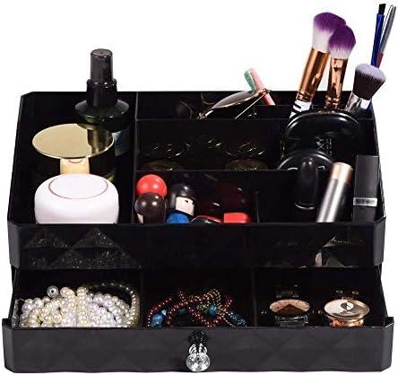XWYSSH主催 化粧品収納ボックス化粧品収納ボックス化粧品収納ボックス XWYSSH (色 : ブラック)