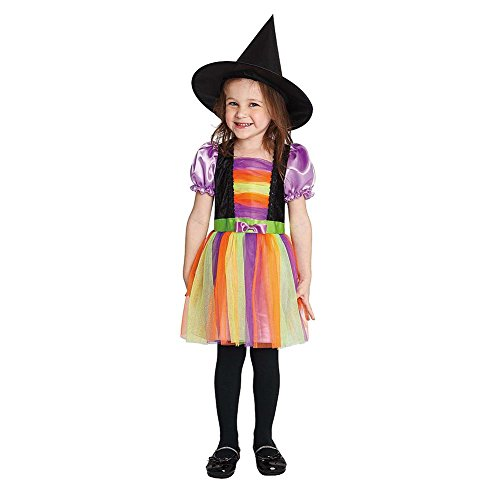 Witch Rainbow Costumes (Rainbow Witch Little Girl's Costume (2-4 years))