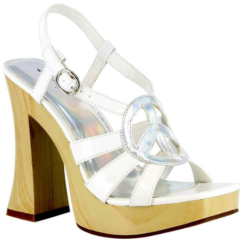 Funk Adult Costume Shoes White - Size 10