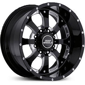 BMF Novakane 18 Black Wheel / Rim 8x180 with a 0mm Offset and a 125.2 Hub Bore. Partnumber 461B-890818000 (Bmf Rims)
