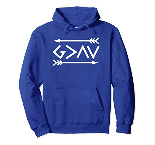 (Unisex God is Greater than the Highs and Lows Christian Hoodie 2XL Royal)