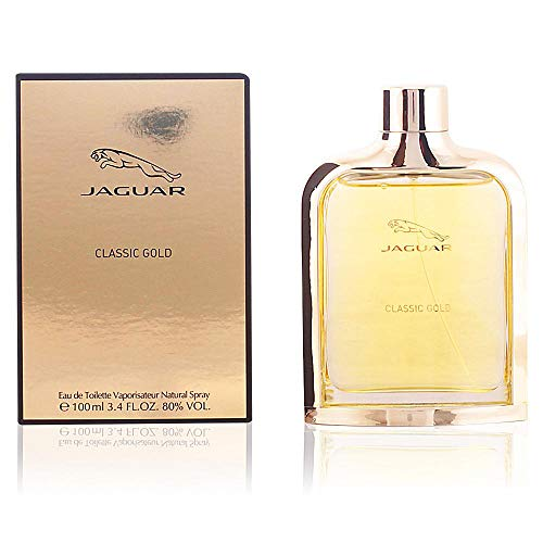Jaguar Classic Gold Eau de Toilette Spray for Men, 3.4 Ounce ()
