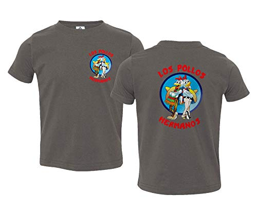Sheki Apparel Los Pollos Hermanos Funny TV Parody Little Kids Unisex Boys Girls Toddler T-Shirt Charcoal