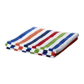 IKEA BANDSJON - toalla de mano, azul, multicolor - 50x100 cm: Amazon.es: Hogar