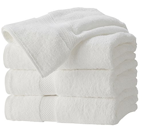 Premium 100% Cotton White Bath Towel Set  Lightweight High A