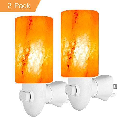 10 Lb Fast Plug - Arvidsson Himalayan Salt Lamp Night Light, Crystal Pink Salt Rock Lamps Wall Light with Wall Plug, Natural Air Purifier Cylinder Salt Light, Best Salt Lamp Light for Decoration