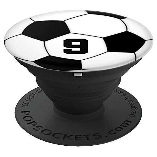 Soccer Ball #9 Grip for Soccer or Football Player No. 9 - PopSockets Grip and Stand for Phones and Tablets