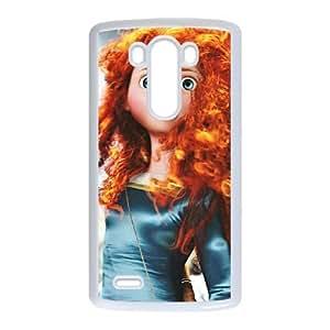 LG G3 White phone case Disney Princess Merida DPC5141176