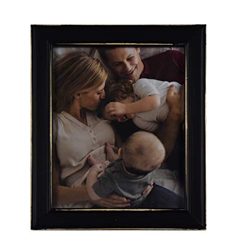 Fetco Home Dcor Longwood Rustic Black 8x10 Picture Frame, ()