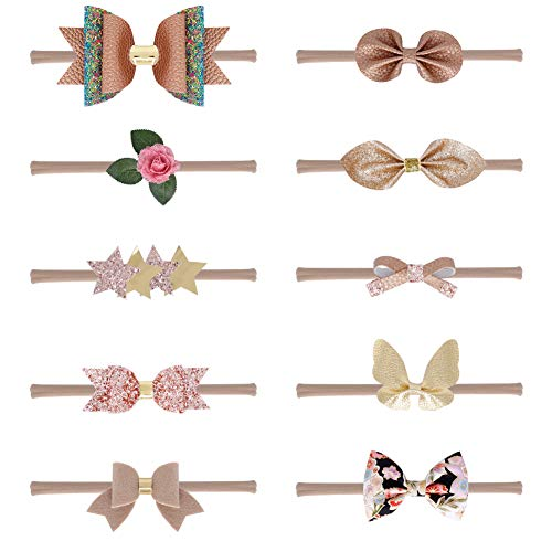 Handmade Infant Girl - Qandsweet Baby Girl's Beautiful Headbands Elastic Hairband for Photograph (10Pcs-New03)