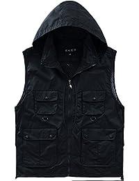 Alipolo New Outdoor Casual Quick-drying Extra Pockets Fishing Vest Black Medium