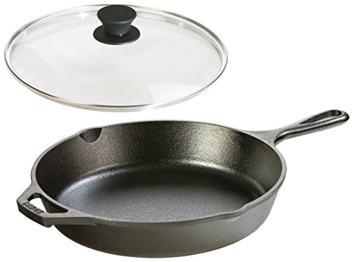 Lodge Seasoned Cast Iron Skillet w/Tempered Glass Lid (10.25 Inch) - Cast Iron Frying Pan With Lid Set. (Best Cut Of Beef For Stir Fry)