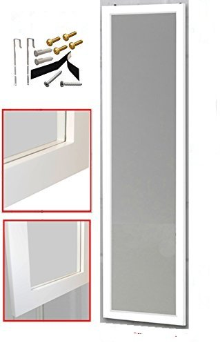 over the door mirror wall mirror 14 x 48 full length white wooden furniture. Black Bedroom Furniture Sets. Home Design Ideas