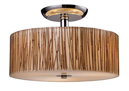 Elk 19065/3 Modern Organics 3-Light Semi-Flush In Bamboo Stem Material In Polished Chrome by ELK