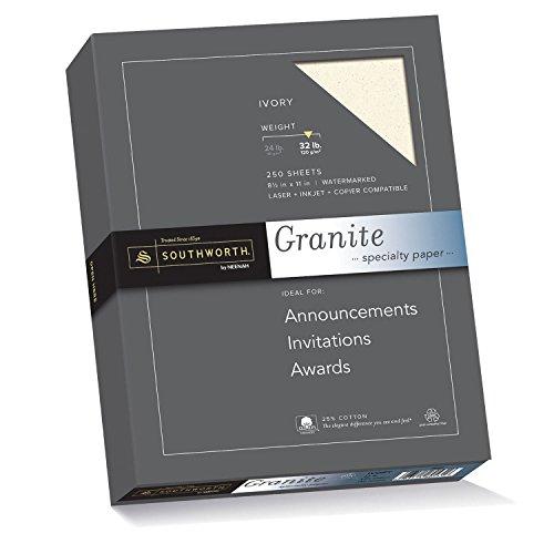 southworth-granite-specialty-paper-85-x-11-inches-32lb-ivory-250-sheets-per-box-j938c