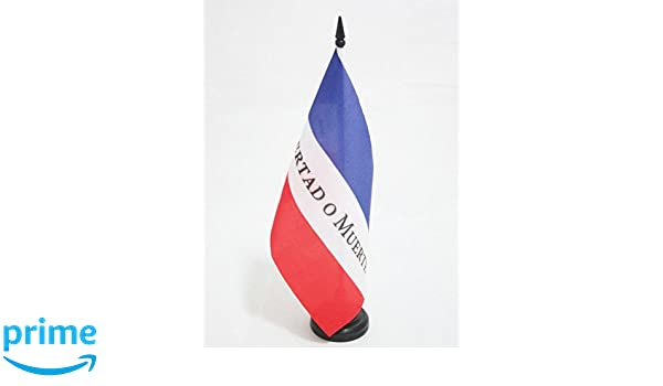 AZ FLAG Bandera de Mesa de los Treinta Y Tres ORIENTALES DE Uruguay 21x14cm - BANDERINA de DESPACHO Libertad O Muerte 14 x 21 cm: Amazon.es: Hogar