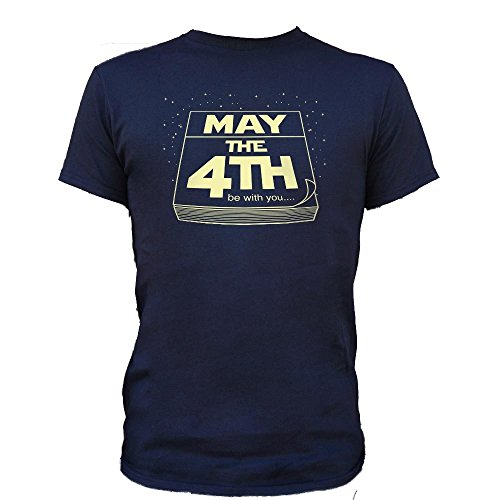Sound Affections Mens May The Fourth Be with You T-Shirt, Black, Large