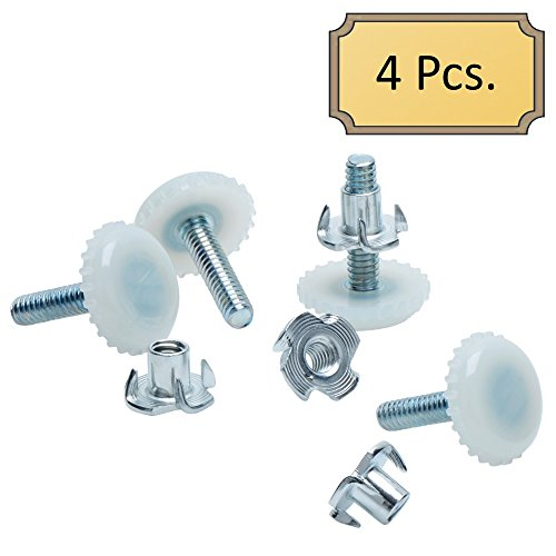 8 Levelers for Furniture and Cabinets with T-Nuts Medium