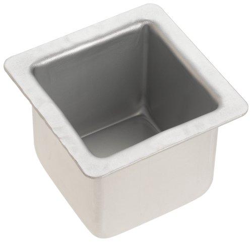 [Fat Daddio's 3 Inch x 3 Inch x 3 Inch Square Cake Pan] (Decorator Preferred Square Pan)