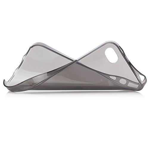 Apple iPhone 4 / 4S   iCues zéro Clear Case Noir   [Protecteur d'écran, y compris] la lumière supplémentaire très mince protecteur de feuille transparente Temps clair de protection Housse de protectio
